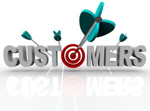 Customers - Target and Arrows Hit the Word